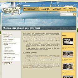 Phénomènes climatiques extrêmes - ClimateChallenge