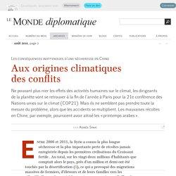 Aux origines climatiques des conflits, par Agnès Sinaï (Le Monde diplomatique, août 2015)