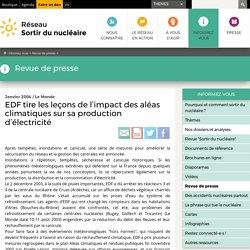 EDF tire les leçons de l'impact des aléas climatiques sur sa production d'électricité