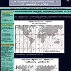 Le champ magnétique et les variations climatiques : les imbrications entre le champ magnétique du Soleil et de la Terre - A la recherche d'Albert Nodon et actualité sur l'action électrique du Soleil