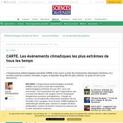 CARTE. Les événements climatiques les plus extrêmes de tous les temps - Sciencesetavenir.fr