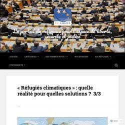 « Réfugiés climatiques » : quelle réalité pour quelles solutions ? 3/3 – Le portail de référence pour l'espace de liberté, sécurité et justice