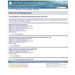 Puerto Rico Climatological Data - NOAA Central Library