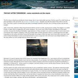 "The film ""The Day After Tomorrow"" - comments by climatologist Stefan Rahmstorf"