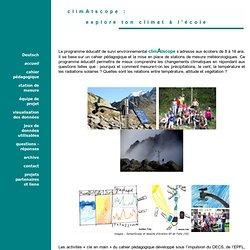 climAtscope, explore ton climat à l'école