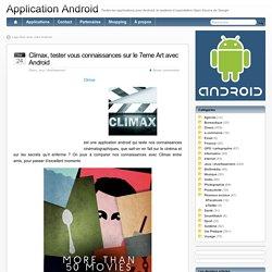 Climax, tester vous connaissances sur le 7eme Art avec Android