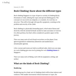 Rock Climbing: Know about the different types — t-hallsg