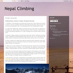 Nepal Climbing: Trekking Peaks Locations in Nepal, Himalayan Mountain