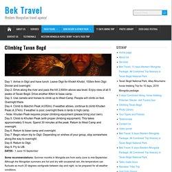 Trekking to Tavan Bogd