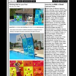 Climbing Wall for your Pool