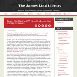 A 1955 clinical trial report that changed my career. - The James Lind Library The James Lind Library