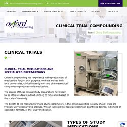 Clinical Trial Compounding - Oxford Compounding