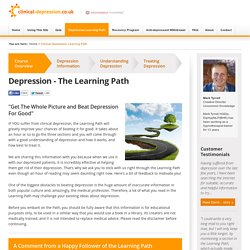 Clinical Depression Learning Path