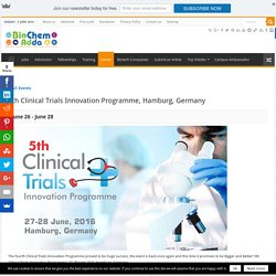 5th Clinical Trials Innovation Programme, Hamburg, Germany