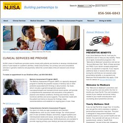 Clinical Services We Provide - New Jersey Institute for Successful Aging