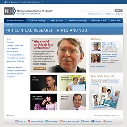 Clinical Research Trials and You