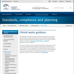 Clinical waste guidance vic