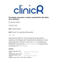 clinicR: groupe d'utilisateurs de R à la FMV