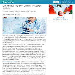 Cliniminds: The Best Clinical Research Institute by ICRI India