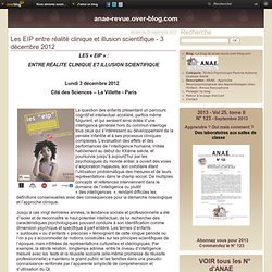 Les EIP entre réalité clinique et illusion scientifique - 3 décembre 2012