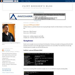 Clint Boessen's Blog: 451 4.4.0 DNS query failed
