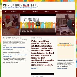 Clinton Bush Haiti Fund  |  Home