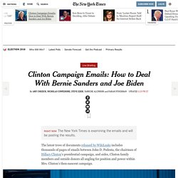 Clinton Campaign Emails: How to Deal With Bernie Sanders and Joe Biden