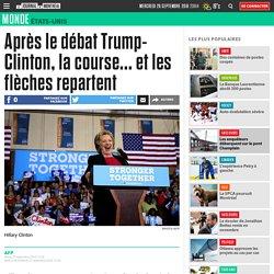 Après le débat Trump-Clinton, la course... et les flèches repartent
