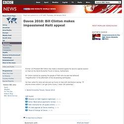 Davos2010: ClintonAppeal