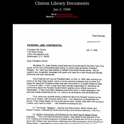Clinton Libary Documents