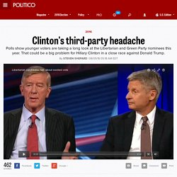Clinton's third-party headache