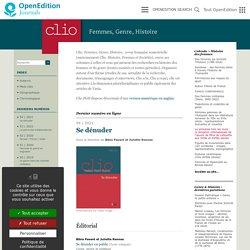 Clio. Femmes, Genre, Histoire