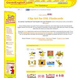 Clip art for ESL flashcards