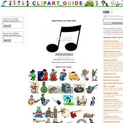 Clipart Picture of a Music Note