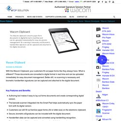 Wacom eSignature Solutions