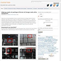 Clipi.ca copie et partage d'écran et image web ultra simplifiée