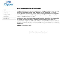 Welcome to Clipper Windpower | Wind Turbine Manufacturer | Wind Power