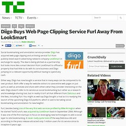 Diigo Buys Web Page Clipping Service Furl Away From LookSmart