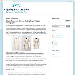 Clipping Path Creative: Ghost Mannequin Service Getting Great Product Photographs