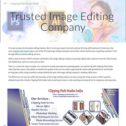 Trusted Image Editing Company - Clipping Path Studio India