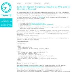Carte de France cliquable en SVG avec la librairie js Raphaël
