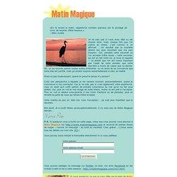 Cliquez ici pour lire le Matin Magique du jour...