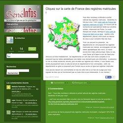 Cliquez sur la carte de France des registres matricules !