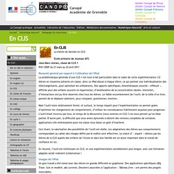 En CLIS - Canopé Académie de Grenoble