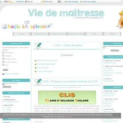 CLIS - Outils du maitre -