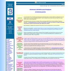 CLIS/SESSAD et droit des parents