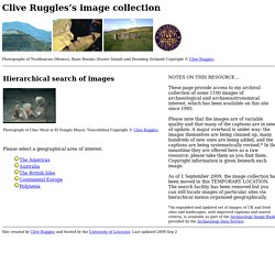 Clive Ruggles's image collection