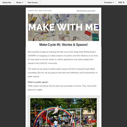 CLMOOC Make Cycle #5: Stories & Spaces!
