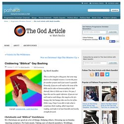 "Clobbering ""Biblical"" Gay Bashing"