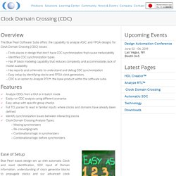 Clock Domain Crossing ( CDC ) - Blue Pearl Software Inc